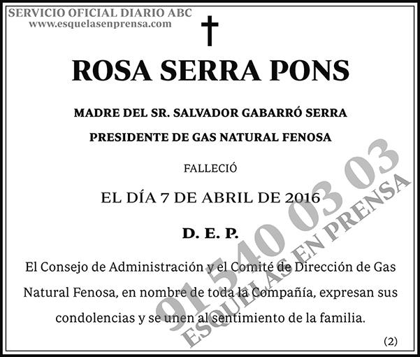 Rosa Serra Pons